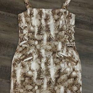 Cache, animal print, dress